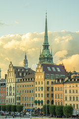 Wall Mural - View of old town of Stockholm city, Sweden.