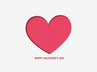 Heart color background and happy Valentine's day