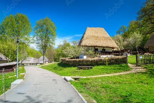 Traditional peasant houses astra ethnographic village museum sibiu romania europe stock - Romanian peasant houses ...