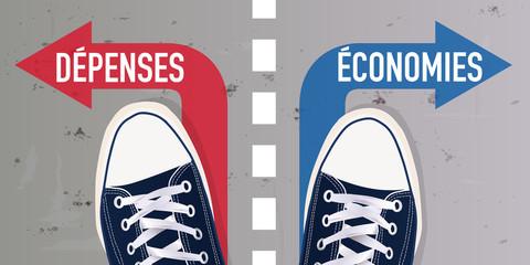 dépenses - économies - Jeune - choix - chaussure