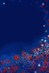 Red White and Blue Abstract Bokeh Party Background for National Holidays USA or France