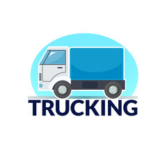 Trucking logo vector illustration
