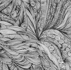 Abstract doodle hand drawn pattern.