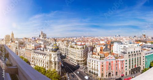 madrid skyline panorama ber die hauptstadt von spanien. Black Bedroom Furniture Sets. Home Design Ideas