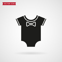 Baby bodysuit icon.
