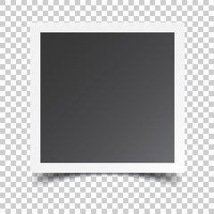 Photo frame on isolated background. For your photography and picture. Vector illustration