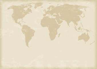 Ancient world map. Vector