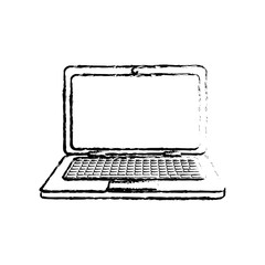 Laptop pc computer icon vector illustration graphic design
