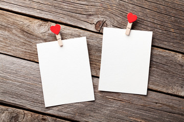 Two blank photo frames