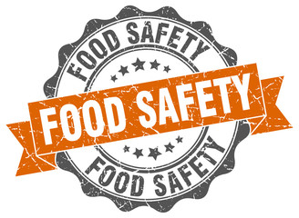 food safety stamp. sign. seal