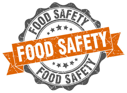 food safety stamp. sign. seal