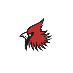 Red head cardinal bird logo