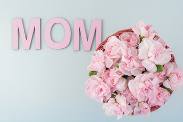 Pink carnations for Mother day.