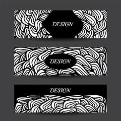 Stock vector cartoon hand draw black and white corporate identit
