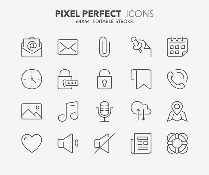 user interface thin line icons 2