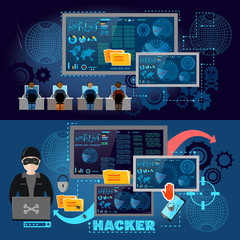 Hackers cyber army hacking and surveillance of computers
