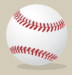 Vector illustration. Baseball ball.