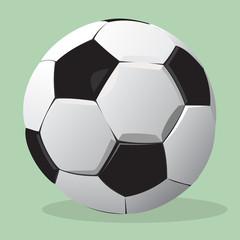 Football ball. Vector realistic illustration.