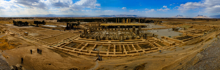 bird eye view panorama of Persepolis (UNESCO)