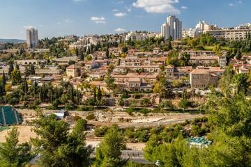 Historic neighborhood Yemin Moshe in Jerusalem, Israel