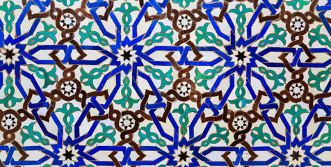 Islamic mosaic Moroccan style useful as background
