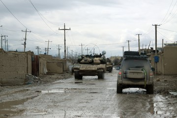 Tanks in a City of Afghanistan