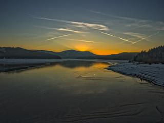 Sonnenuntergang an der Granetalsperre