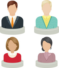 Avatars for profile page, social network, social media