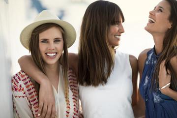 Young women enjoying summer.