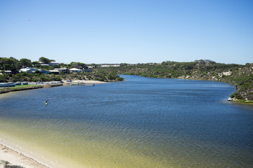 Moore river lagoon and beach
