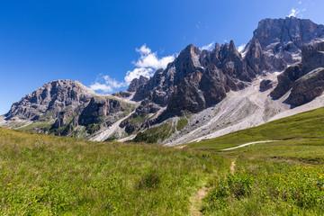Wall Mural - View of Pale di San Martino, Italian Dolomites in Trentino