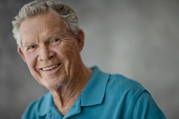 Portrait of a smiling elderly man.