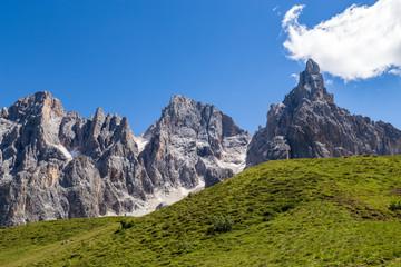 Fototapete - View of Pale di San Martino, Italian Dolomites in Trentino