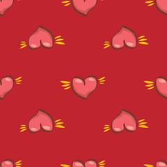 vector seamless heart pattern love background