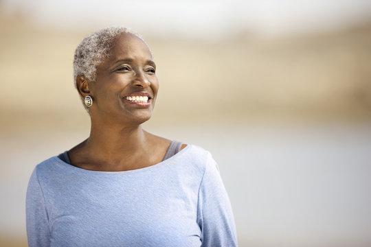 Portrait of a smiling mature woman.