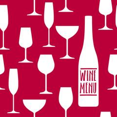 Restaurant or wine bar menu design.
