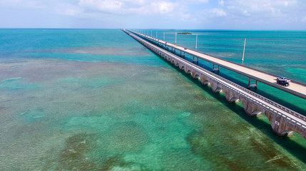 Aerial view of Overseas Highway, Florida - USA