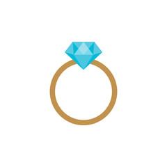 Diamond engagement ring icon