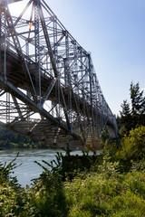 The Bridge of the Gods linking Oregon and Washington near Portland, Oregon.