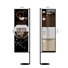 coffee menu graphic  design objects template