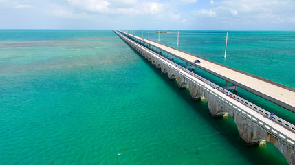 Aerial view of Florida Keys interstate