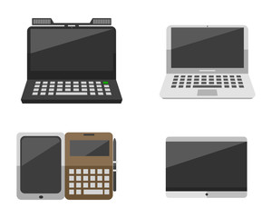 Computer laptop network and tablet technology vector illustration.
