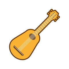 cartoon guitar musical instrument icon vector illustration eps 10