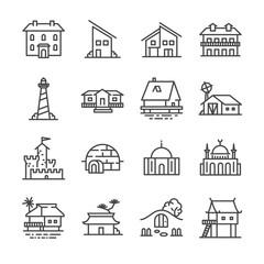 Property icons set