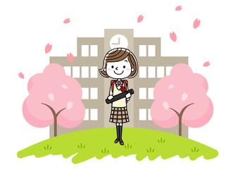 卒業式イメージ:女の子