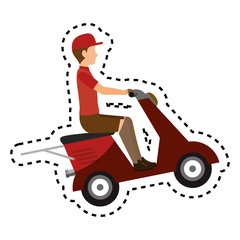 delivery motorcycle service icon vector illustration design