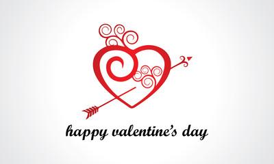 happy valentine day logo