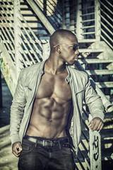 Hot buff black man posing