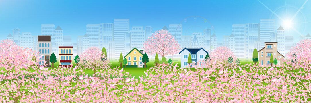 桜 家 春 背景