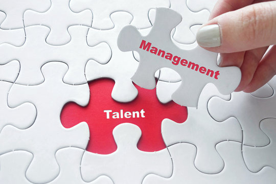 Talent Management on jigsaw puzzle